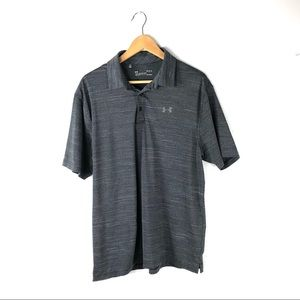 Under armour Men's shirt large loose gray polo